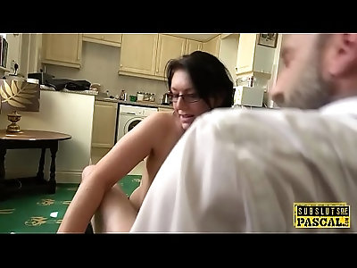 Busty MILF roughly fucked hard doggystyle