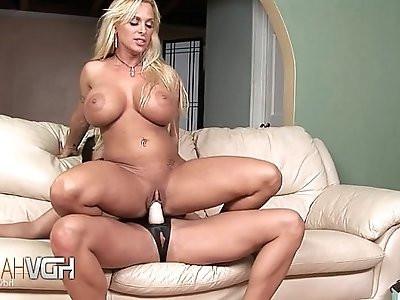 Lesbian Blonde Brunette Strap On Sex