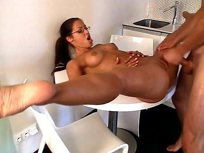spandex gymnast ready for flexi sex