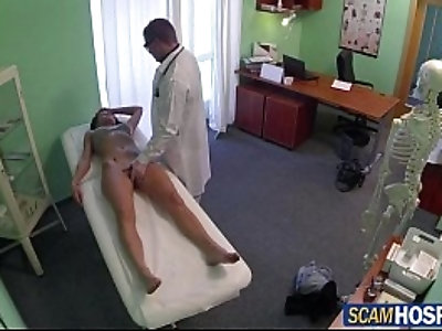 Super sexy Victoria was ready for the doctors cock to fuck from behind