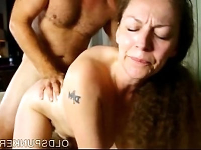 Busty mature enjoys a hot fuck and a sticky facial cumshot