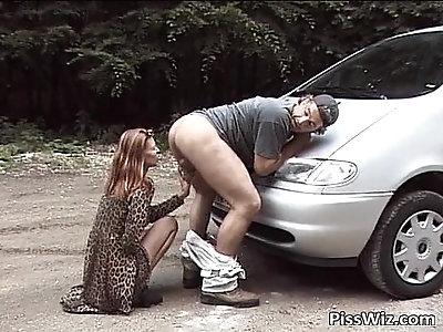Some slut horny ride by car
