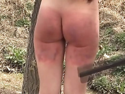 spanked in BDSM porn videos