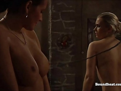 Big Boobs Girls Whipping One Innocent Slave