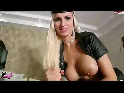 big boobed german nurse in latex hj