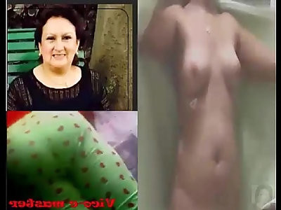 Espiando a mi de la ducha spying my aunt after taking a shower