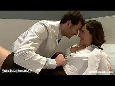 The medical doctor and nurse share sexual experiences