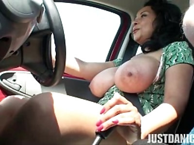 Danica Collins Donna Ambrose Get Naked While Driving