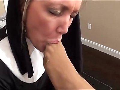 Nun feet worship
