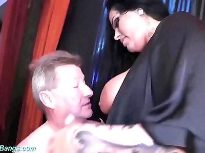 extreme gangbang with busty Ashley Cum Star