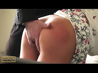 British whore Skyler McKay wants to eat jizz after rough sex