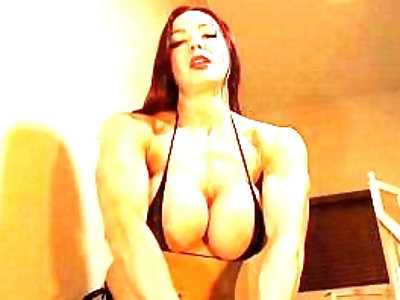 Muscle Babe Humiliates Your Scrawny Body