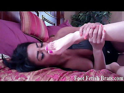 Worship these feet in her face