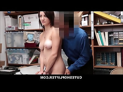 Hot Teen Shoplifter With Big Natural Tits Jade Amber Fucked By Horny Mall Cop