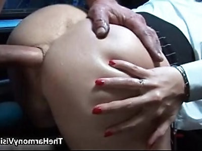 Busty amateur blonde whore gets her ass