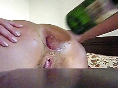 anal fisting bottle anal insertion