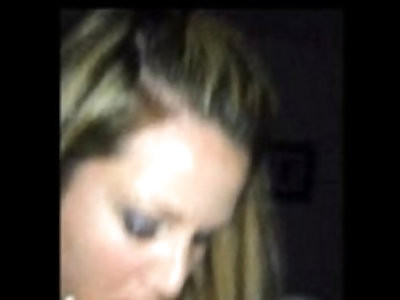 Hot wife takes a mouthful of cum while filmed on an iPhone