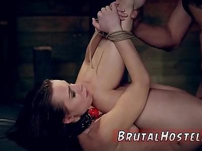 Pink latex bondage and rough fingering ass licking Best cronys Aidra