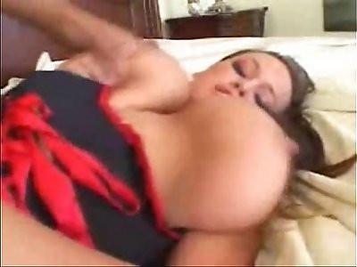 big tits girl with a deepthroat