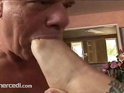 Foot Worship And Toe Sucking, Blonde Fetish Mature