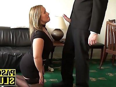Hot blonde Ashley gets her tight cunt destroyed hard