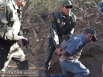 Mother friends daughter police Mexican border patrol agent has his
