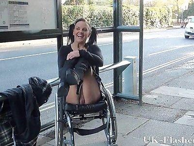 Paraprincess public nudity and handicapped pornstar flashing