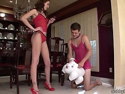 Hailey makes him her slave and cuckold.