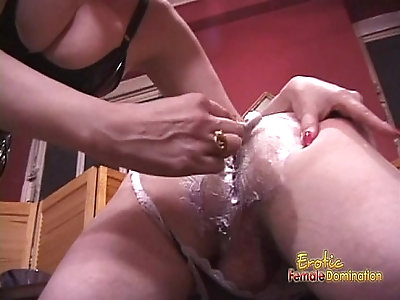 Naughty and horny dude receives a proper spanking from his domino