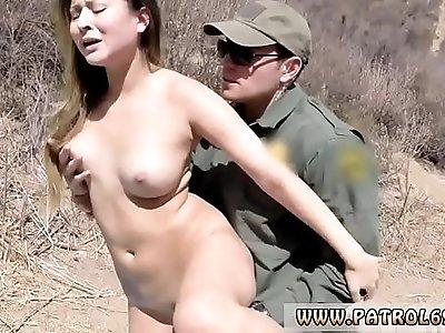 Ebony police officer Anal for Tight Booty Latina