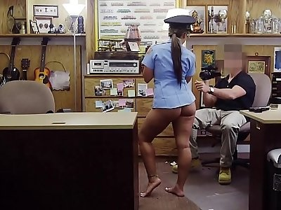XXX PAWN Juicy Latin Police Officer No Speaky English, Desperate For Money!